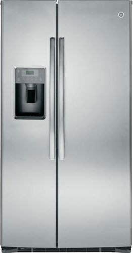 ge  cu ft side  side refrigerator stainless steel gsehshss dick van dyke appliance