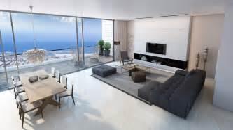 livingroom in living room sea view interior design ideas