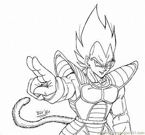 Coloring Pages Vegeta Lineart By Bk 81 (Cartoons > Vegeta ...