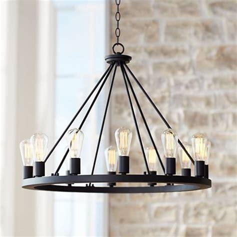 wide chandelier 28 quot wide black chandelier w7307 ls plus