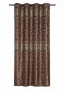 Rideau Rouge Et Noir : rideau occultant motifs argent s chocolat noir blanc beige rouge bleu taupe ~ Teatrodelosmanantiales.com Idées de Décoration