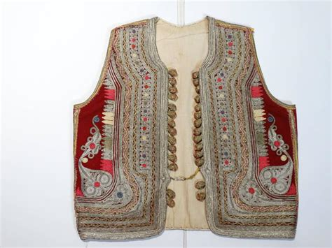 antique ottoman gold thread embroidered vest
