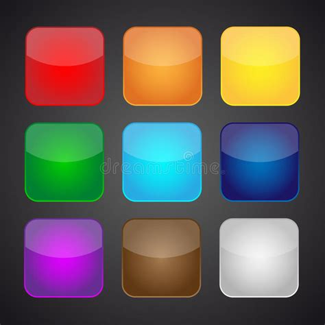 photo color app set of color apps icons background stock vector image