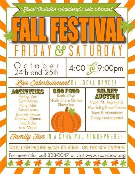 fall festival names kauai christian academy s 14th annual fall festival kauai com events calendar