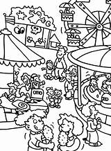 Coloring Carnival Fair Pages Park Amusement County Theme Fun Activity Drawing Games Contest Adult Printable Getcolorings Football Pa Sheets Getdrawings sketch template