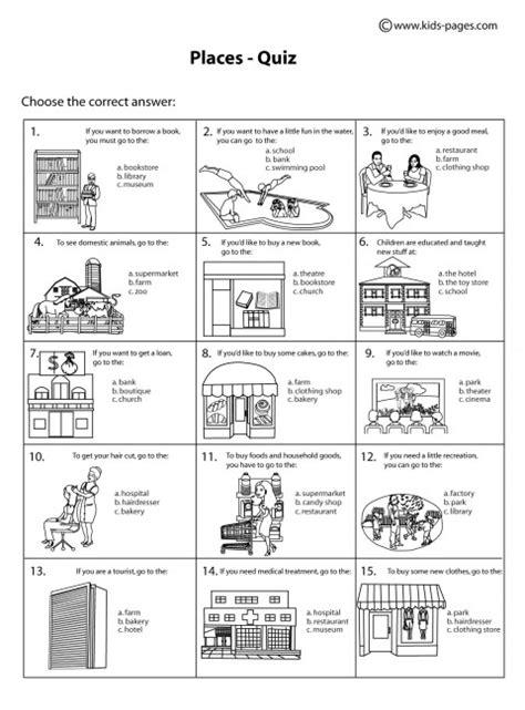13 best images of worksheets house places esl crossword