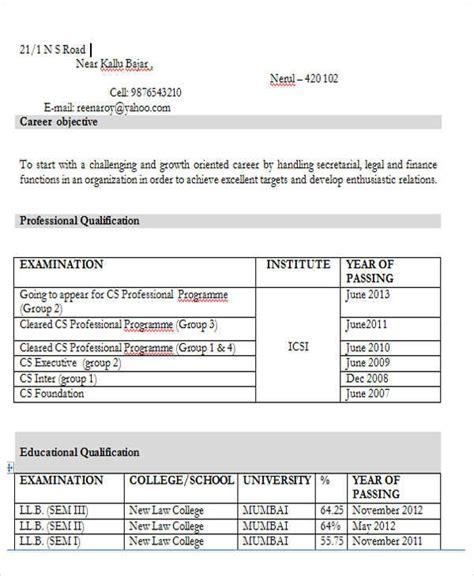 43 professional fresher resumes