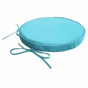 Coussin Rond 50 Cm : galette de chaise ronde impermeable dehoussable achat ~ Dailycaller-alerts.com Idées de Décoration