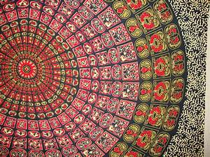 Boho Hippie Tapestry Fabric Mandala by SticksandStonesHemp1