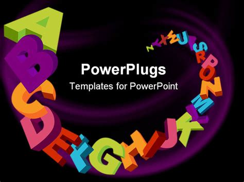alphabet powerpoint template colorful  alphabet