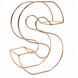 copper wire letter s 15 cm hobbycraft With copper letters hobbycraft