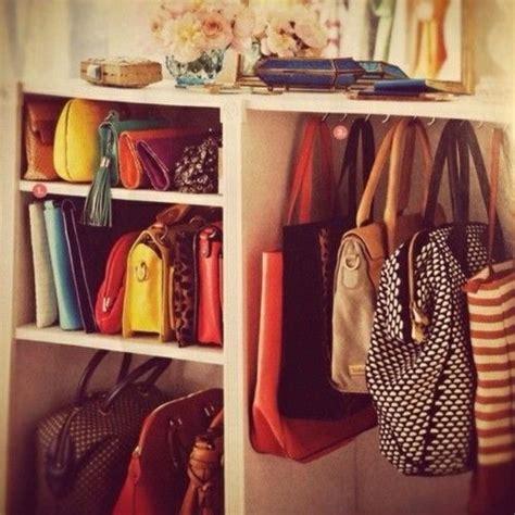 closet organization handbags organized