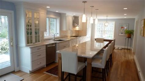 narrow kitchen island with seating galley kitchen with island one wall islands seating