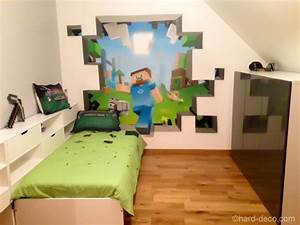 amazing minecraft bedroom decor ideas moms approved With deco murale chambre ado