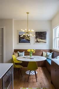 modern breakfast nook with built in banquette hgtv