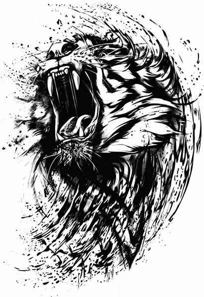 Lion Sketch Henley Printed Redesyn