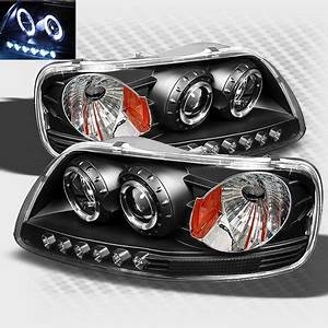 Xtune Lights 1997 2003 Ford F 150 Twin Halo Led Projector Headlights