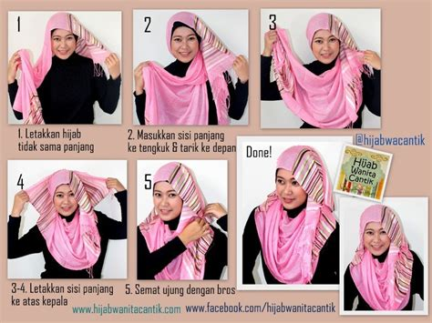 tutorial hijab menutup dada sopan anggun  tetap bersahaja