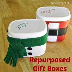 How to make Christmas themed recycled t boxes