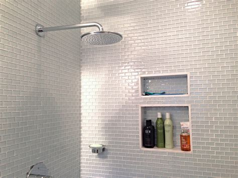 white glass mini subway tile shower walls subway tile outlet