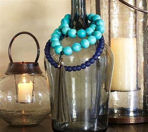navy glass vases pottery barn