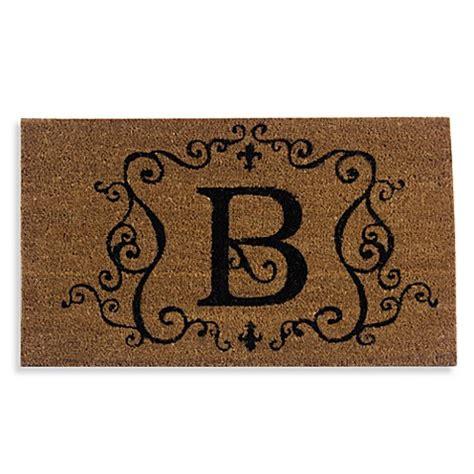 Monogrammed Doormat by Monogram Letter Quot B Quot Door Mat Insert Bed Bath Beyond