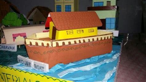 How To Make A Boat For School Project by Model Of House Boat With Cardboard Boxes For School