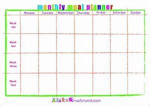 3 meal calendar template authorizationlettersorg for Monthly dinner calendar template