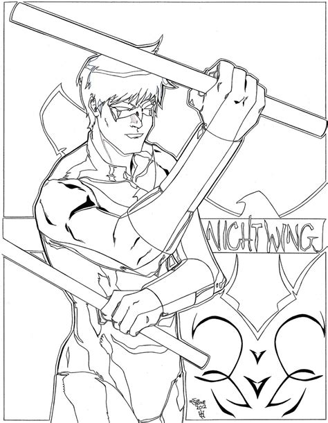 nightwing coloring pages free printable nightwing coloring pages for