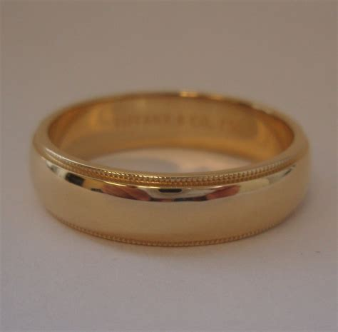 co 18k gold 6mm milgrain wedding band ring 12