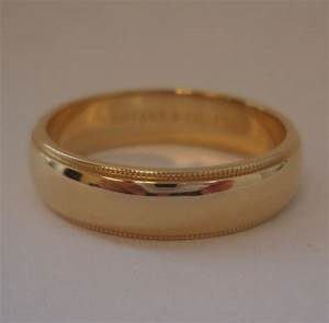 tiffany co 18k gold 6mm milgrain wedding band ring 12 With tiffany milgrain wedding band ring