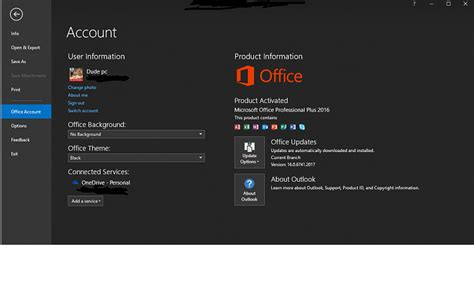 office  latest update black theme   solved