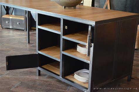 meuble central de cuisine ilot central de cuisine sur mesure micheli design