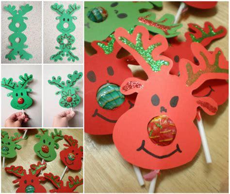 Deer Lollipop Cover Template Pdf by Craft Ideas65 Reindeer Chupa Chups