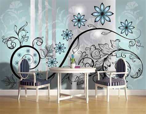 abstract flower art wall murals  wall homewallmurals