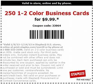 Staples 999 for 250 business cards printable coupon for Staples business cards promo code