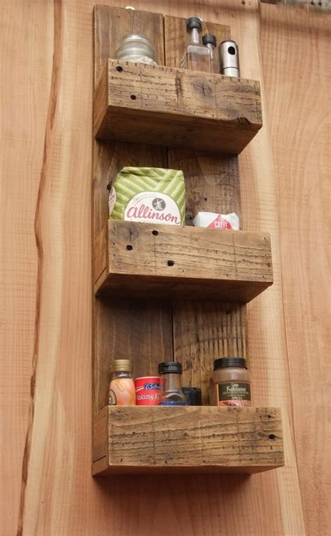kitchen storage rustic kitchen bathroom storage shelves made from 1605
