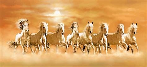 Feng Shui Eight Horse Painting