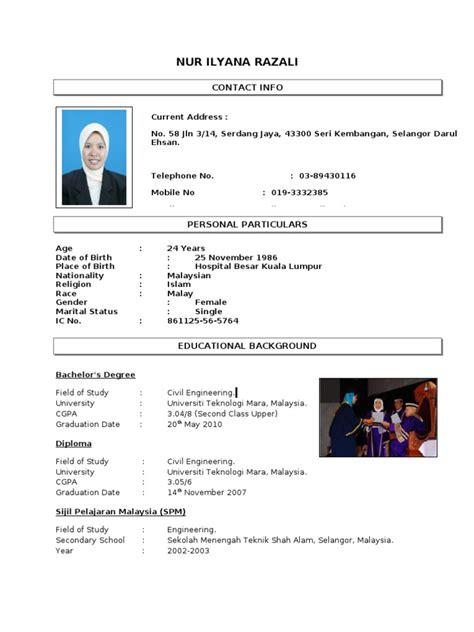 contoh resume  anis malaysia schools