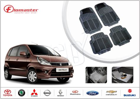 floor mats for zen estilo buy flomaster universal heavy rubber floor mats maruti zen estilo black online shopclues com