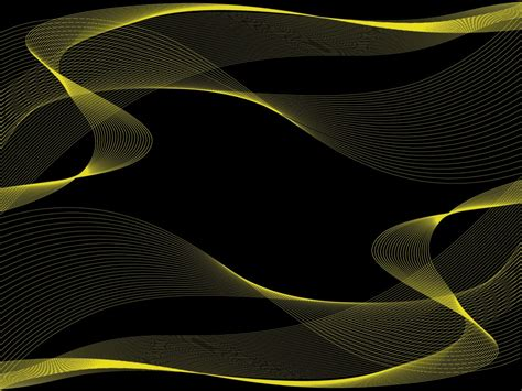 Abstract Black Yellow by Black With Yellow Powerpoint Templates Abstract Black