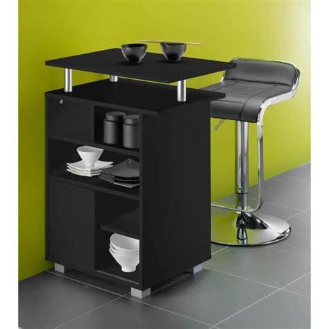 meubles bar cuisine kitchen meuble de cuisine bar 60 cm noir achat vente