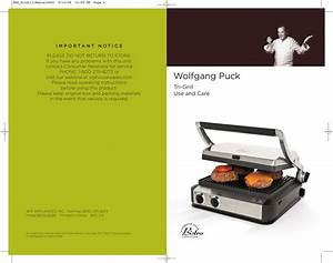 Wolfgang Puck Tri Grill Bcgl0050 Users Manual Hsn