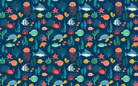 Animal Wallpaper Pattern - sea animals pattern wallpapers sea animals pattern stock
