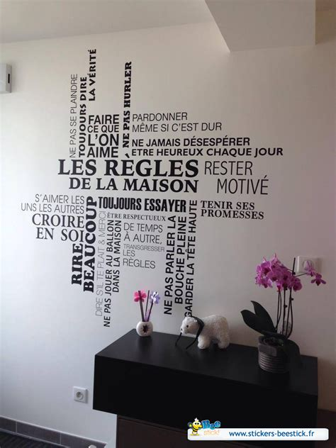 la maison de zazou sticker les r 232 gles de la maison tag cloud stickers