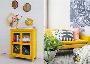 peinture chambre jaune moutarde chaioscom With meuble jaune moutarde