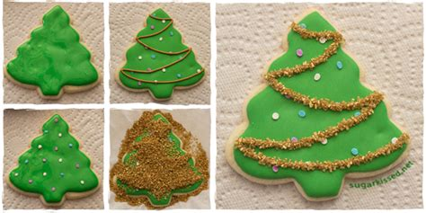 Decorated Christmas Cookies  Trees & Ornaments