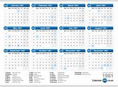Calendar 1981