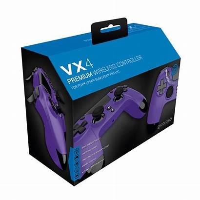Controller Purple Gioteck Wireless Fortnite Ps4 Vx4