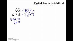 2 Digit By 2 Digit Multiplication Partial Products Method